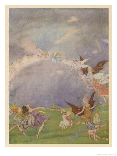 Fairies in Flight-Florence Anderson-Giclee Print