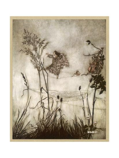 Fairies, Kensington Gdns-Arthur Rackham-Giclee Print