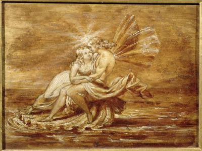 Fairies on a Shell (W/C)-Sir Joseph Noel Paton-Giclee Print