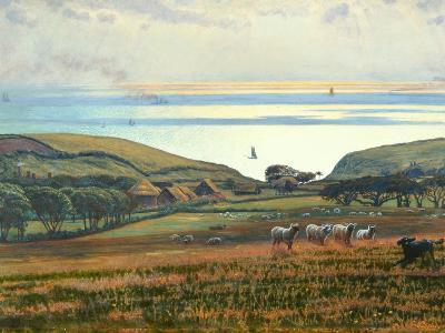 Fairlight Downs, Sunlight on the Sea-William Holman Hunt-Giclee Print