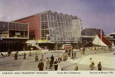 Fairway and Transport Pavilion, Festival of Britain, South Bank Exhibition, London, 1951--Photographic Print