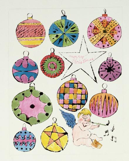 Fairy and Christmas Ornaments, c.1953-1955 Art Print by Andy Warhol |  Art.com - Fairy And Christmas Ornaments, C.1953-1955 Art Print By Andy Warhol