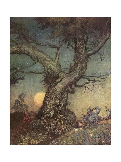 Fairy Folk-Arthur Rackham-Giclee Print