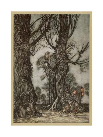 Fairy Lantern Bearers-Arthur Rackham-Premium Giclee Print