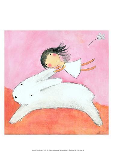 Fairy on Hare-Carla Sonheim-Art Print