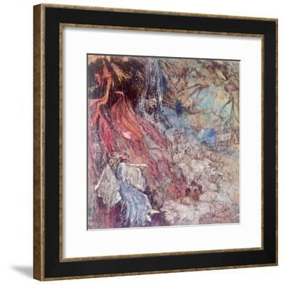 Fairy passing the Hobgoblin's lair-Mary Smith-Framed Giclee Print