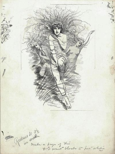 Fairy Queen from 'The Water-Babies' by Charles Kingsley-Edward Linley Sambourne-Giclee Print