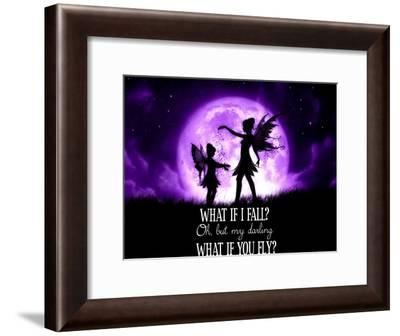Fairy Sisters What If I Fall What If You Fly-Julie Fain-Framed Art Print