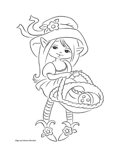 Fairy with a basket-Olga And Alexey Drozdov-Giclee Print