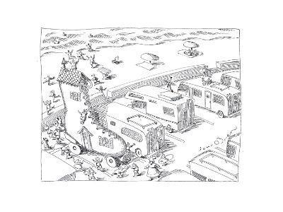 Fairytail camper - Cartoon-John O'brien-Premium Giclee Print