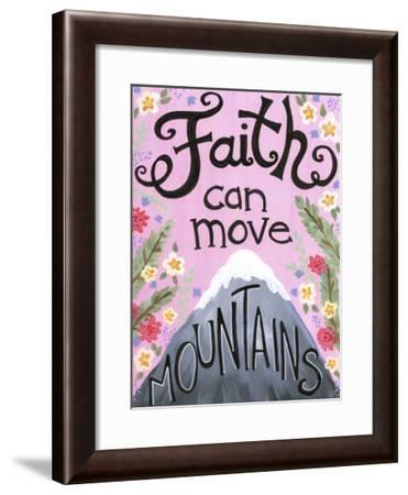 Faith Can Move Pink Floral-Jennifer Nilsson-Framed Giclee Print