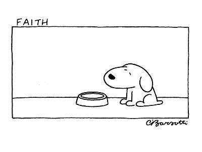 Faith - Cartoon-Charles Barsotti-Premium Giclee Print
