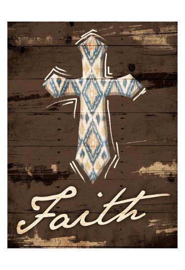Faith Cross-Jace Grey-Art Print