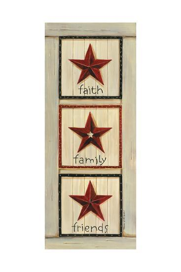 Faith, Family, Friends-Karen Tribett-Art Print