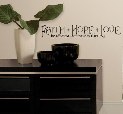Faith, Hope & Love Peel & Stick Quotable--Wall Decal