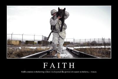 Faith: Inspirational Quote and Motivational Poster--Photographic Print