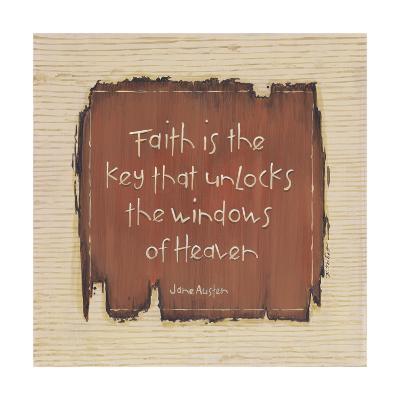 Faith Is the Key-Karen Tribett-Art Print