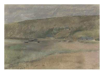 Falaises au bord de la mer : plage de Beuzeval-Edgar Degas-Giclee Print