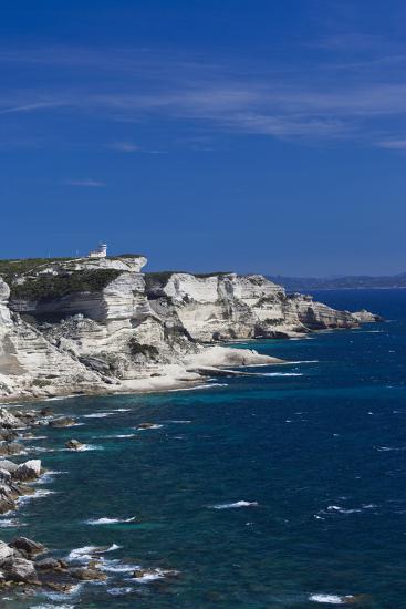 Falaises Cliffs Towards Capo Pertusato, Bonifacio, Corsica, France-Walter Bibikow-Photographic Print