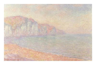 Falaises de Pourville, Le Matin, 1897-Claude Monet-Giclee Print