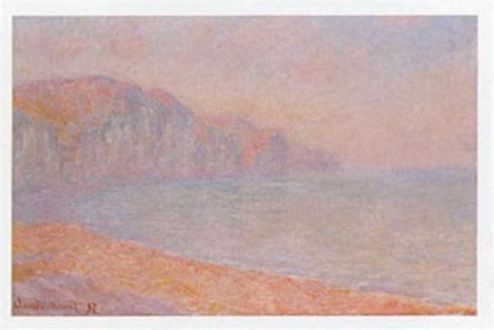 Falaises de Pourville-Claude Monet-Art Print