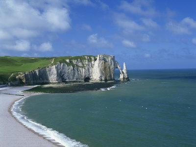 Falaises, Near Etretat, Haute Normandie, France-Hans Peter Merten-Photographic Print