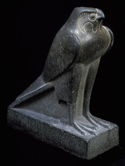 Falcon, Granite Statue--Giclee Print
