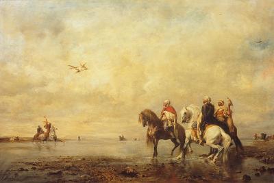 Falcon Hunt in the Sahara, 1863-Eugène Fromentin-Giclee Print