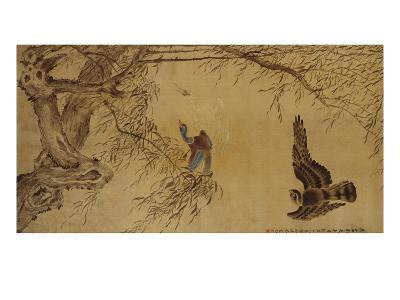 Falcon Hunting Prey-Hua Yan-Giclee Print