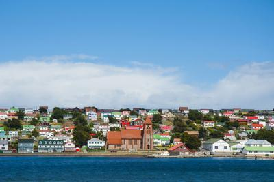 Falkland Islands. Stanley. View from the Water-Inger Hogstrom-Photographic Print