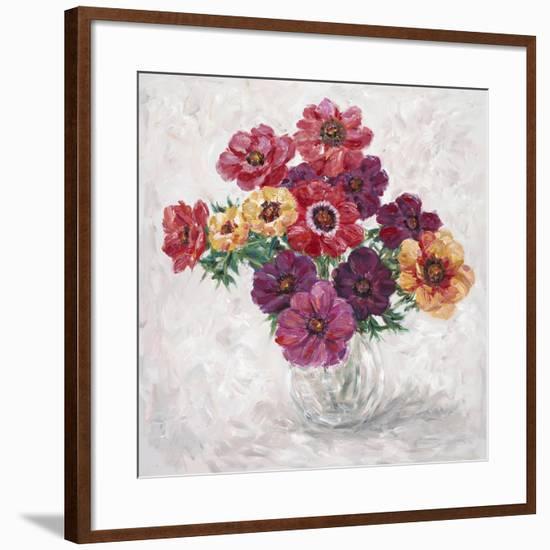 Fall Anemones-James Zheng-Framed Premium Giclee Print