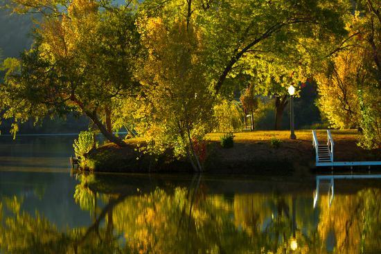 Fall at the Lake-Sally Linden-Photographic Print