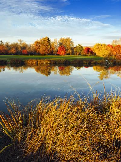 Fall Color and Reflection in the Yakima Arboretum, Yakima, Washington, Usa-Richard Duval-Photographic Print