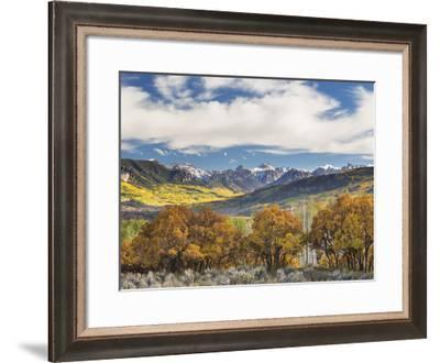 Fall Color Cimarron Road III-Don Paulson-Framed Giclee Print