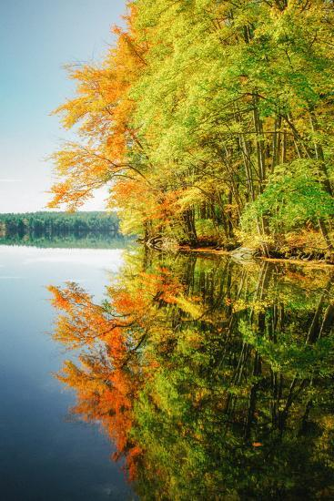 Fall Color Reflections ay Holderness New Hampshire, New England-Vincent James-Photographic Print