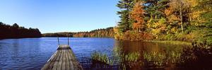 Fall Colors Along a New England Lake, Goshen, Hampshire County, Massachusetts, USA