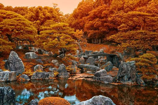 Fall Colors at the Pond of the Ninomaru Garden-Kike Calvo-Photographic Print