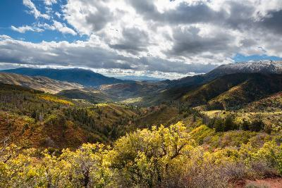 Fall Colors In The Wasatch Mt Range, A Viewpoint Along The Mount Nebo Scenic Byway In Central Utah-Ben Herndon-Photographic Print