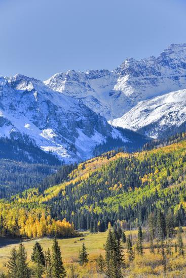 Fall Colors, Road 7, Sneffels Range in the Background-Richard Maschmeyer-Photographic Print