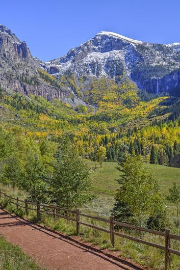 Fall Colours, Telluride, Western San Juan Mountains in the Background-Richard Maschmeyer-Photographic Print