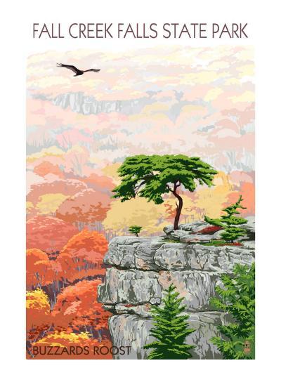 Fall Creek Falls State Park, Tennessee - Buzzards Roost-Lantern Press-Art Print