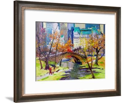Fall In Central Park-Suren Nersisyan-Framed Art Print