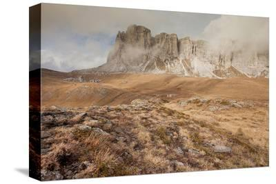 Fall In Dolomites--Stretched Canvas Print