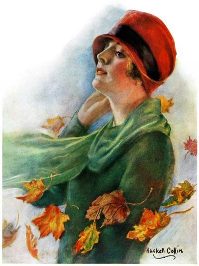 """Fall Leaves,""November 5, 1927-William Haskell Coffin-Giclee Print"