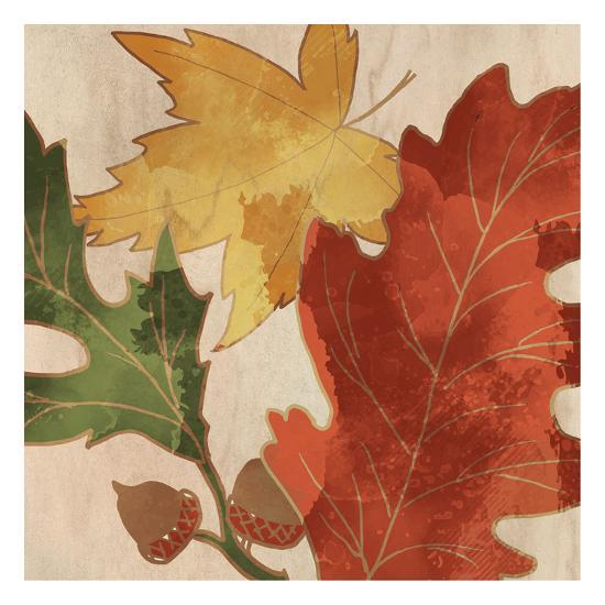 Fall Leaves Square 2-Kimberly Allen-Art Print