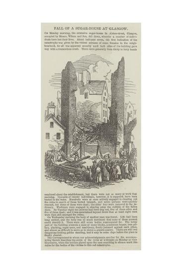 Fall of a Sugar-House at Glasgow--Giclee Print