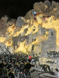 Fall of the Alamo to Santa Anna's Mexican Forces in Texas, 1836