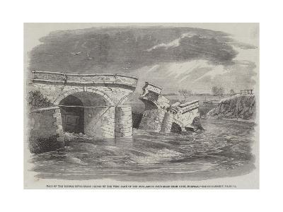 Fall of the Middle Level Drain Bridge on the West Bank of the Ouse-Richard Principal Leitch-Giclee Print