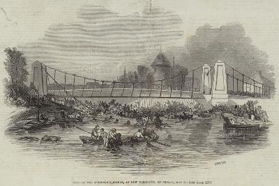 Fall of the Suspension Bridge, at New Yarmouth, on Friday, 2 May--Giclee Print