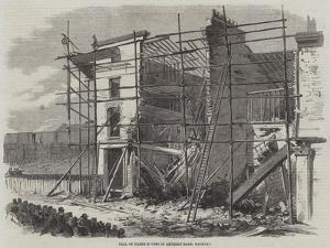 Fall of Three Houses in Amherst-Road, Hackney